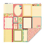 My Little Shoebox - Secret Garden Collection - 12 x 12 Double Sided Paper - La petite
