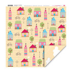 My Little Shoebox - Coming Home Collection - 12 x 12 Double Sided Paper - Town Square