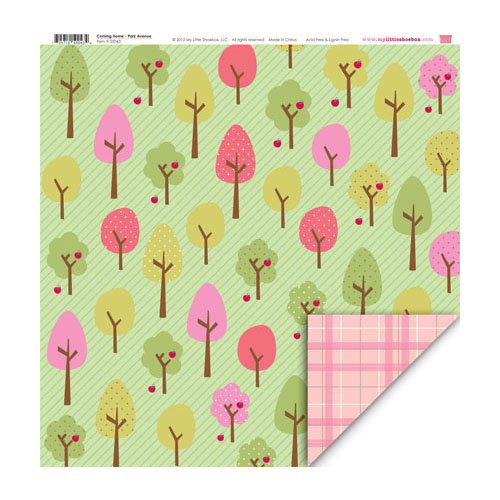 My Little Shoebox - Coming Home Collection - 12 x 12 Double Sided Paper - Park Avenue