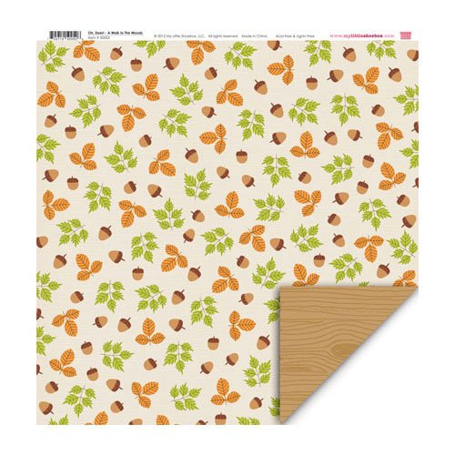 My Little Shoebox - Oh, Deer! Collection - 12 x 12 Double Sided Paper - A Walk in The Woods