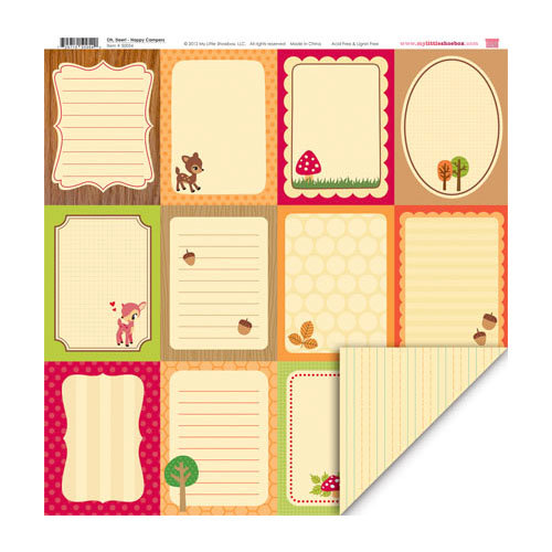 My Little Shoebox - Oh, Deer! Collection - 12 x 12 Double Sided Paper - Happy Campers