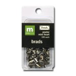 Making Memories Mini Brads -  Heart - Pewter