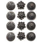 Making Memories Decorative Brads - Round - Pewter Variety Pack 1, CLEARANCE