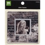 Making Memories Sheer Frames - Christmas, CLEARANCE
