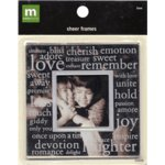 Making Memories Sheer Frames - Love