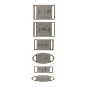 Making Memories Ribbon Labels - Sports, CLEARANCE