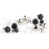 Making Memories - Brads - Value Pack - Basic Circles - Black, White and Silver, CLEARANCE