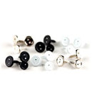 Making Memories - Brads - Value Pack - Button - Mini - Black, White and Silver, CLEARANCE