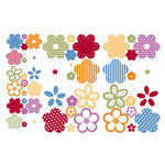 Making Memories - Clear Stickers - Flowers -In Bloom