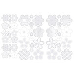 Making Memories - Clear Stickers - Flowers - White