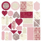 Making Memories - Love Story Collection - Valentine's Day - Glitter Jigsaw Shapes