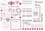 Making Memories - Love Story Collection - Valentine's Day - Rub-Ons - Love Story