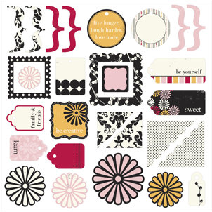 Making Memories - 5th Avenue Collection - Die Cuts - Elizabeth, CLEARANCE