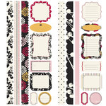 Making Memories - 5th Avenue Collection - Stickers - Borders and Tags - Elizabeth, CLEARANCE