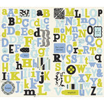 Making Memories - 5th Avenue Collection - Stickers - Chipboard Alphabet - Sophia, CLEARANCE