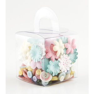 Making Memories - Blossoms and Buttons Box - Lemonade, CLEARANCE