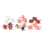 Making Memories - Value Pack - Flower Shaped Brads - Red and Pink, CLEARANCE