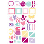 Making Memories - Glitter Clears - Clear Glittered Pieces - Princess Bright, CLEARANCE