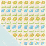 Making Memories - Animal Crackers Collection - 12x12 Double Sided Paper - Jack Animals