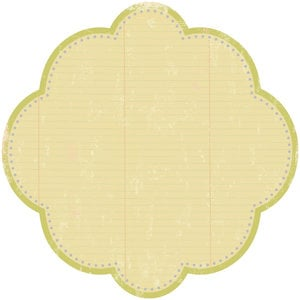 Making Memories - Noteworthy Collection - Addie - 12x12 Diecut Circle, CLEARANCE