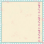 Making Memories - Noteworthy Collection - 12x12 Die Cut Paper - Delaney Stamp