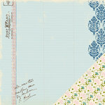 Making Memories - Passport Collection - 12x12 Double Sided Paper - Ledger Teal, CLEARANCE