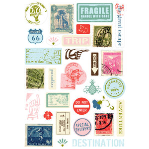 Making Memories - Passport Collection - Pebble Stickers, CLEARANCE