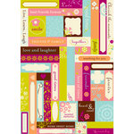 Making Memories - Label Fetti Stickers - Expressions, CLEARANCE