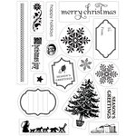 Making Memories - Fa La La Collection - Christmas - Acrylic Clear Stamps - Christmas, CLEARANCE