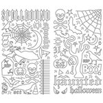Making Memories - Spellbound Halloween Collection - LineArt Stickers - Black and Silver, CLEARANCE