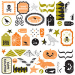 Making Memories - Spellbound Halloween Collection - Self Adhesive Glitter Clears - Tags and Shapes, CLEARANCE