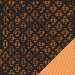 Making Memories - Spellbound Halloween Collection - 12 x 12 Double Sided Paper - Brocade Orange