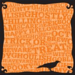 Making Memories - Spellbound Halloween Collection - 12 x 12 Glitter Paper - Crow, CLEARANCE