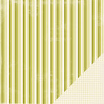 Making Memories - Paperie Greenhouse Collection - 12 x 12 Double Sided Paper - Skinny Stripe, CLEARANCE