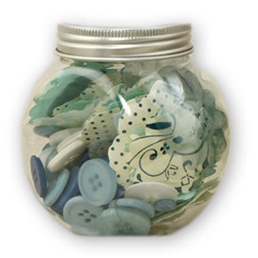 Making Memories - Paperie Collection - Blossom and Button Jar - Poolside, CLEARANCE