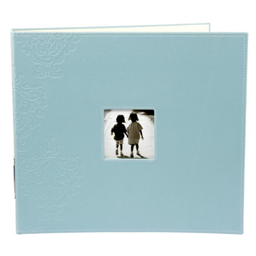 Making Memories - Paperie Collection - 12 x 12 Embossed Leather Album - 3-Ring - Poolside