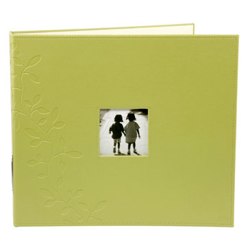 Making Memories - Paperie Collection - 12 x 12 Embossed Leather Album - 3-Ring - Greenhouse