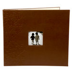 Making Memories - Paperie Collection - 12 x 12 Embossed Leather Album - 3-Ring - Mocha