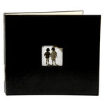 Making Memories - Paperie Collection - 12 x 12 Embossed Leather Album - 3-Ring - Black