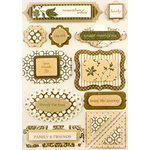Making Memories - Paperie Collection - Dimensional Stickers - Mocha, CLEARANCE