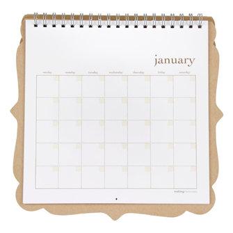 Making Memories - 10 x 10 Blank Calendar - Artisan