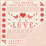 Making Memories - Love Notes Collection - 12 x12 Double Sided Paper - Sampler Love Notes, CLEARANCE