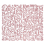 Making Memories - Love Notes Collection - Shimmer Alphabet Stickers - Pink