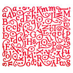 Making Memories - Love Notes Collection - Foil Alphabet Stickers - Red