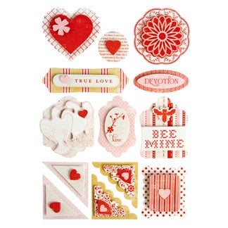 Making Memories - Love Notes Collection - Dimensional Stickers, CLEARANCE