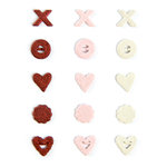 Making Memories - Love Notes Collection - Jumbo Shimmer Brads, CLEARANCE