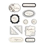 Making Memories - I Do Collection - Dimensional Stickers, CLEARANCE