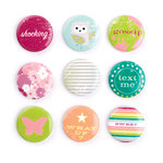 Making Memories - Just Chillin Girl Collection - Badge Brads, CLEARANCE