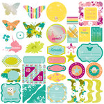 Making Memories - Just Chillin Girl Collection - Glitter Die Cuts , BRAND NEW