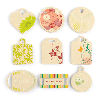Making Memories - Just Chillin Girl Collection - Chipboard Tags , CLEARANCE